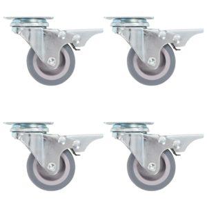 Lenkrollen mit Doppelbremsen 4 Stk. 50 mm
