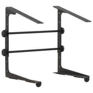 Laptopständer Schwarz 30,5×28×(24,5-37,5) cm Stahl