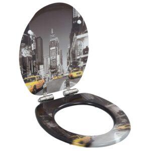 Toilettensitz mit Soft-Close-Deckel MDF New York Design