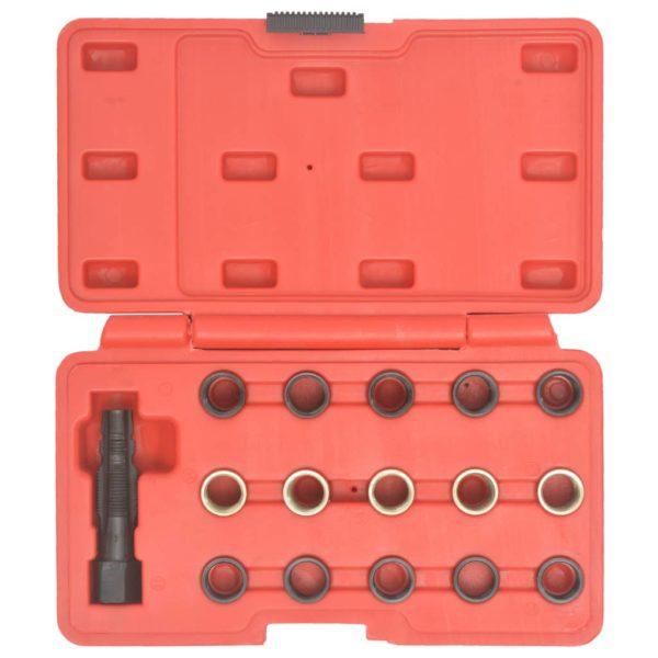 16-tlg. Zündkerzengewinde-Reparatursatz M14×1,25