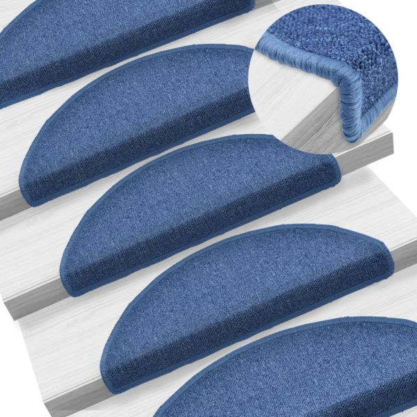 15 Stk. Treppenmatten Blau 65 x 24 x 4 cm