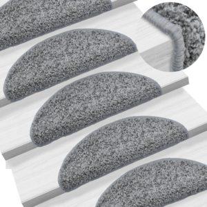 15 Stk. Treppenmatten Grau 56 x 20 cm