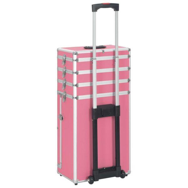 Kosmetikkoffer Aluminium Rosa