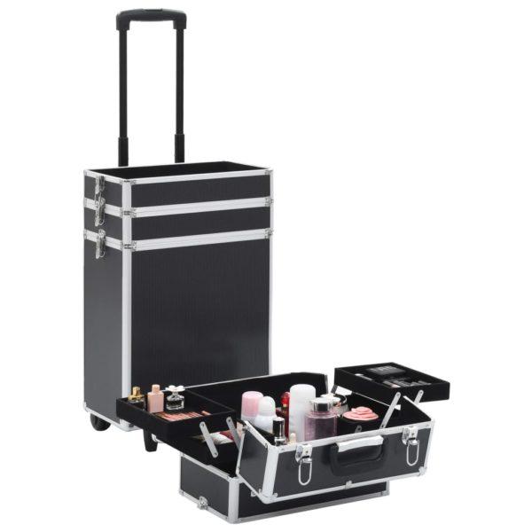 Kosmetikkoffer Aluminium Schwarz