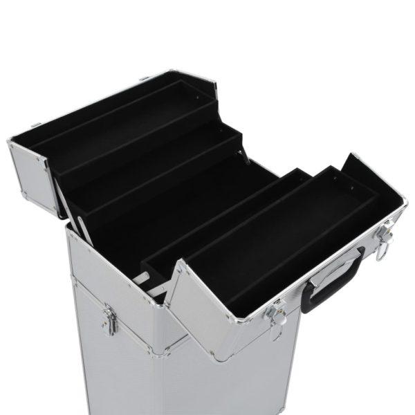 Kosmetikkoffer Aluminium Silbern