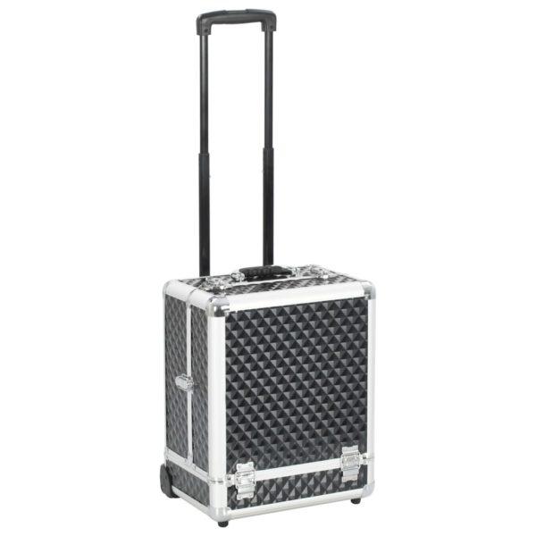 Kosmetikkoffer 35×29×45 cm Schwarz Aluminium