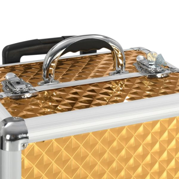 Kosmetikkoffer 35×29×45 cm Golden Aluminium