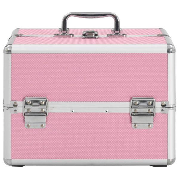 Kosmetikkoffer 22x30x21 cm Rosa Aluminium