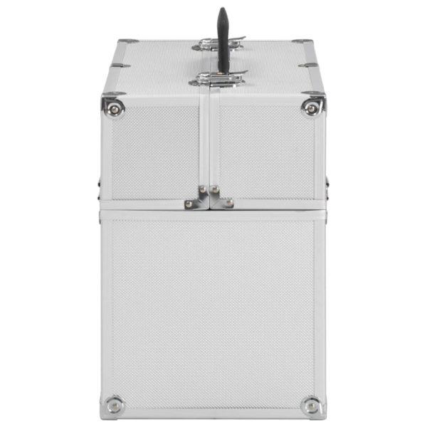 Kosmetikkoffer 37x24x35 cm Silbern Aluminium