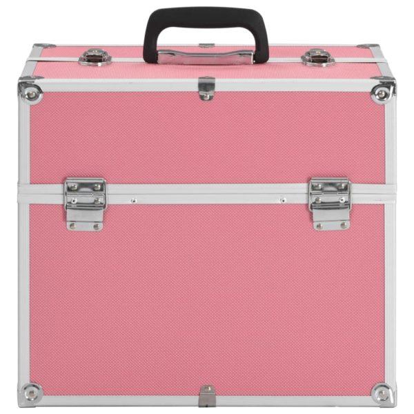 Kosmetikkoffer 37 x 24 x 35 cm Rosa Aluminium
