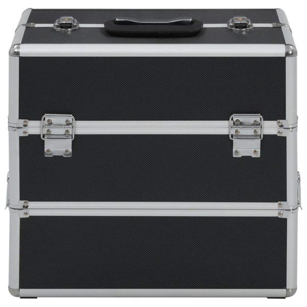 Kosmetikkoffer 37x24x35 cm Schwarz Aluminium