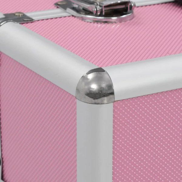 Kosmetikkoffer 37x24x35 cm Rosa Aluminium