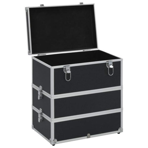 Kosmetikkoffer 37x24x40 cm Schwarz Aluminium