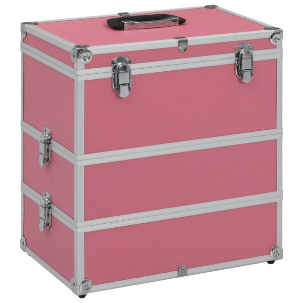 Kosmetikkoffer 37x24x40 cm Rosa Aluminium