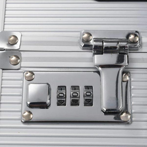 Pilotenkoffer 39 x 47 x 25 cm Silber Aluminium