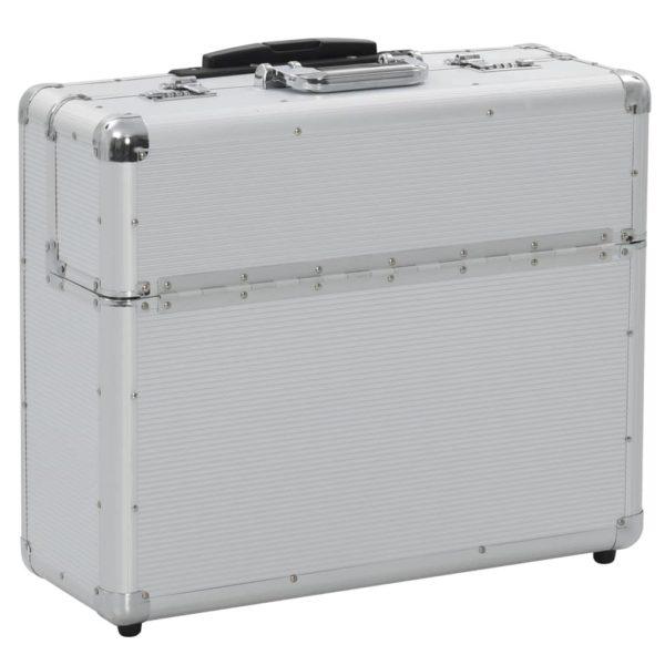 Pilotenkoffer 54 x 44 x 21 cm Silbern Aluminium