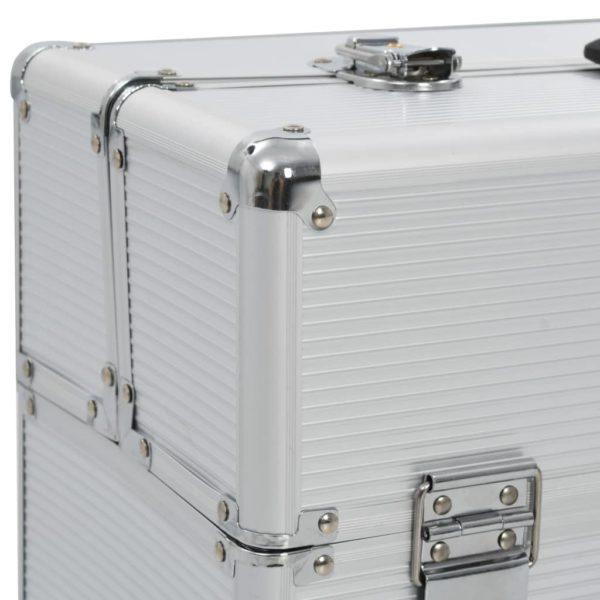 Pilotenkoffer 47 x 39 x 27 cm Silbern Aluminium