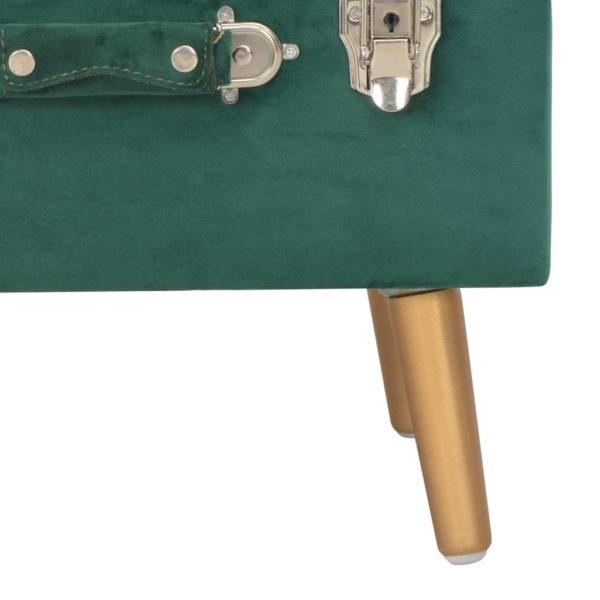 Hocker mit Stauraum 40 cm Grün Samt