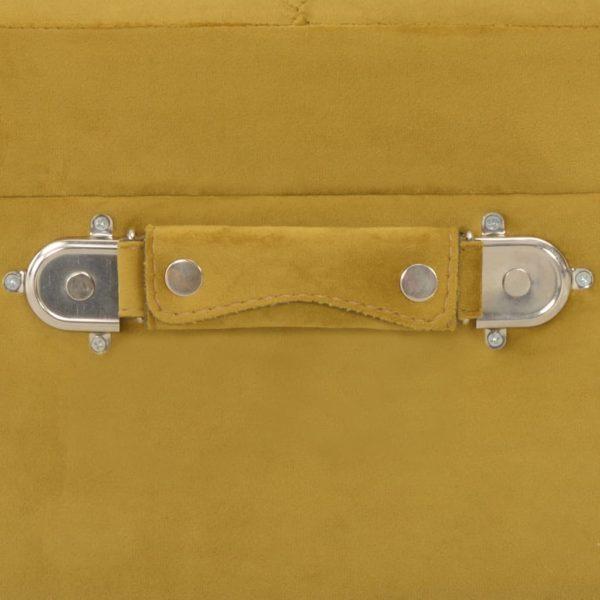 Hocker mit Stauraum 40 cm Senfgelb Samt
