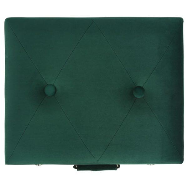 Hocker mit Stauraum 3 Stk. Grün Samt