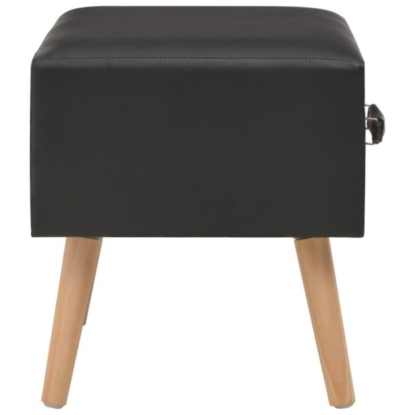 Nachttisch Schwarz 40 x 35 x 40 Kunstleder