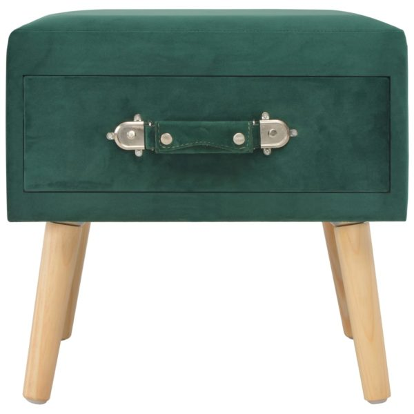 Nachttisch Grün 40 x 35 x 40 Samt