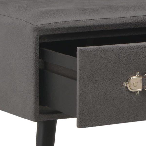 Couchtisch Grau 80 x 40 x 46 cm Kunstleder