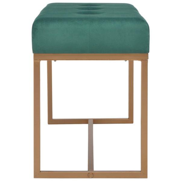 Bank 80 cm Grün Samt