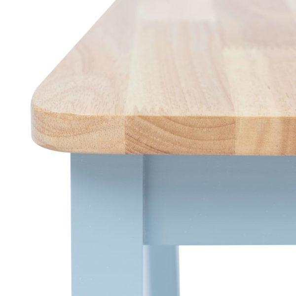 Esszimmerstühle 2 Stk. Grau & Helles Holz Gummibaum Massivholz