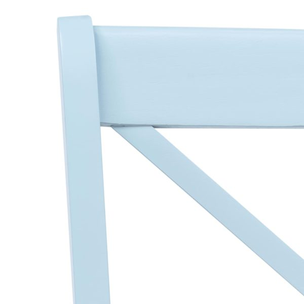 Esszimmerstühle 4 Stk. Grau & Helles Holz Gummibaum Massivholz