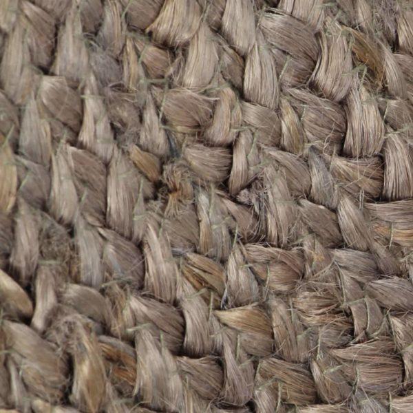 Teppich Handgefertigt Jute Rund 90 cm Grau