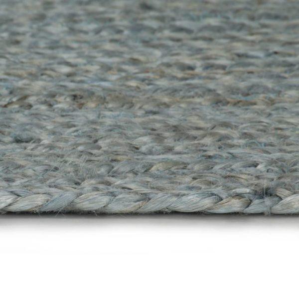 Teppich Handgefertigt Jute Rund 90 cm Olivgrün