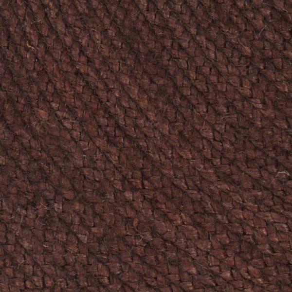 Teppich Handgefertigt Jute Rund 90 cm Braun