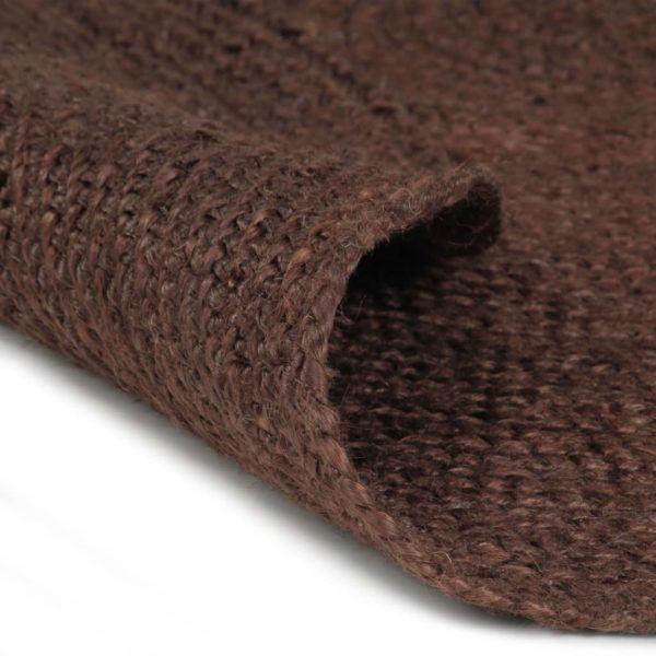 Teppich Handgefertigt Jute Rund 150 cm Braun
