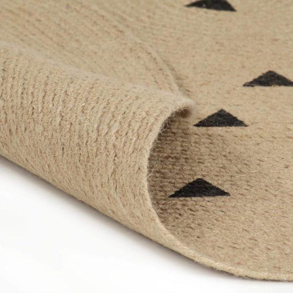 Teppich Handgefertigt Jute mit Dreiecksmuster 90 cm