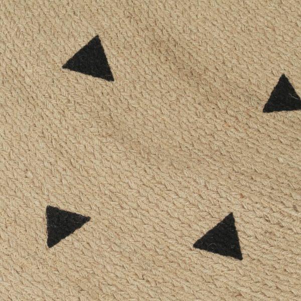 Teppich Handgefertigt Jute mit Dreiecksmuster 150 cm