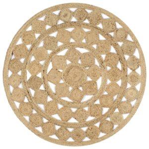 Teppich Handgefertigt Jute Geflochten 120 cm