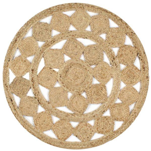 Teppich Handgefertigt Jute Geflochten 150 cm