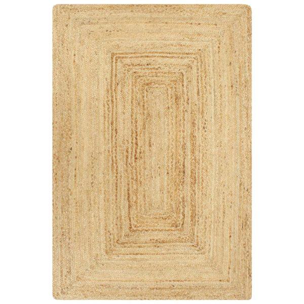 Teppich Handgefertigt Jute Natur 120×180 cm