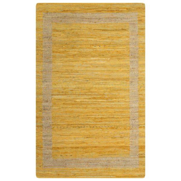 Teppich Handgefertigt Jute Gelb 160×230 cm