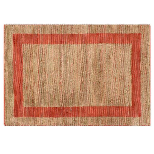 Teppich Handgefertigt Jute Rot 120×180 cm