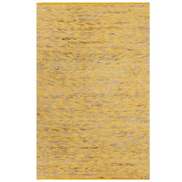 Teppich Handgefertigt Jute Gelb und Natur 120×180 cm