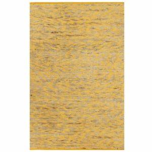 Teppich Handgefertigt Jute Gelb und Natur 160×230 cm