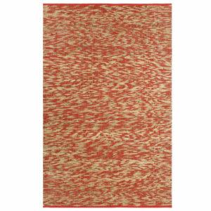 Teppich Handgefertigt Jute Rot und Natur 120×180 cm