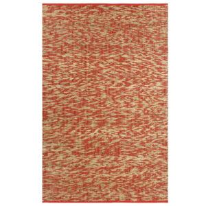 Teppich Handgefertigt Jute Rot und Natur 160×230 cm