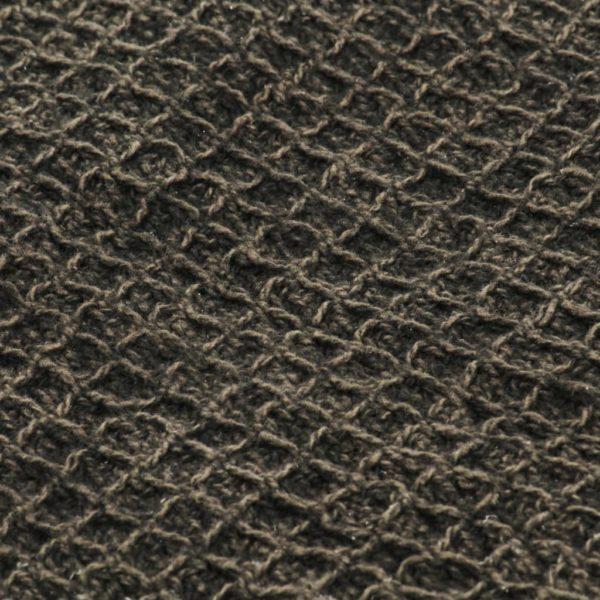 Überwurf Baumwolle 160×210 cm Anthrazit/Braun