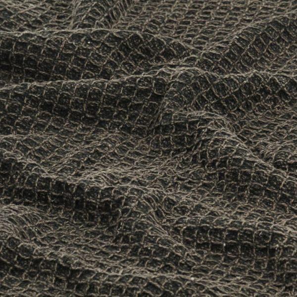 Überwurf Baumwolle 220×250 cm Anthrazit/Braun
