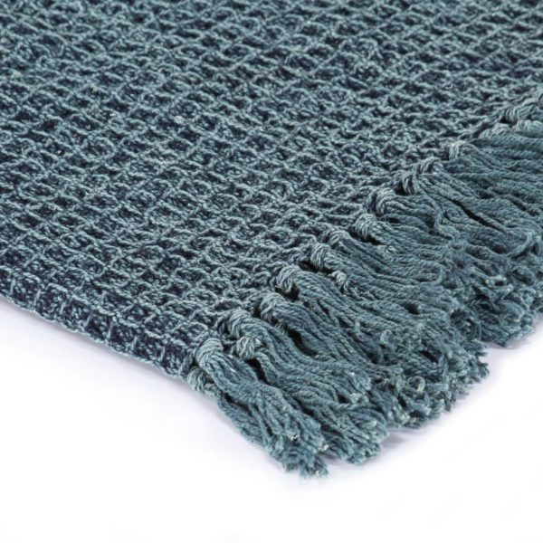 Überwurf Baumwolle 125×150 cm Indigoblau