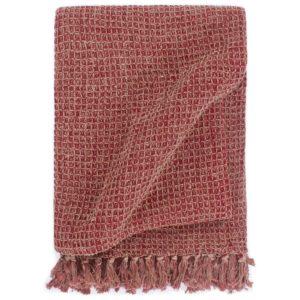 Überwurf Baumwolle 125×150 cm Burgunderrot