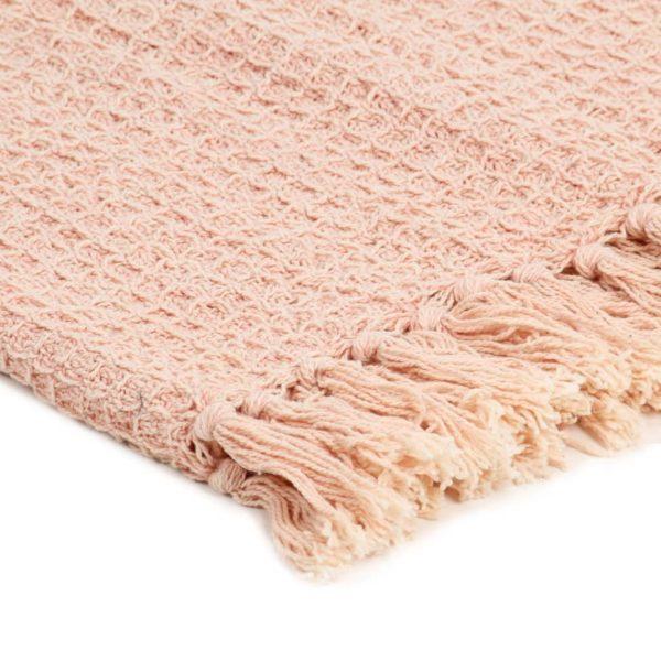 Überwurf Baumwolle 220×250 cm Altrosa